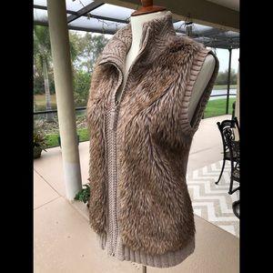 Fenn Wright Manson faux fur sweater vest.